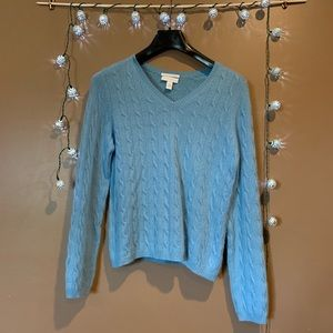Barter Club cashmere sweater.
